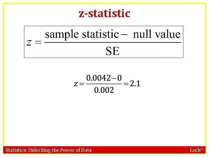 z-statistic Statistics: Unlocking the Power of Data Lock 5
