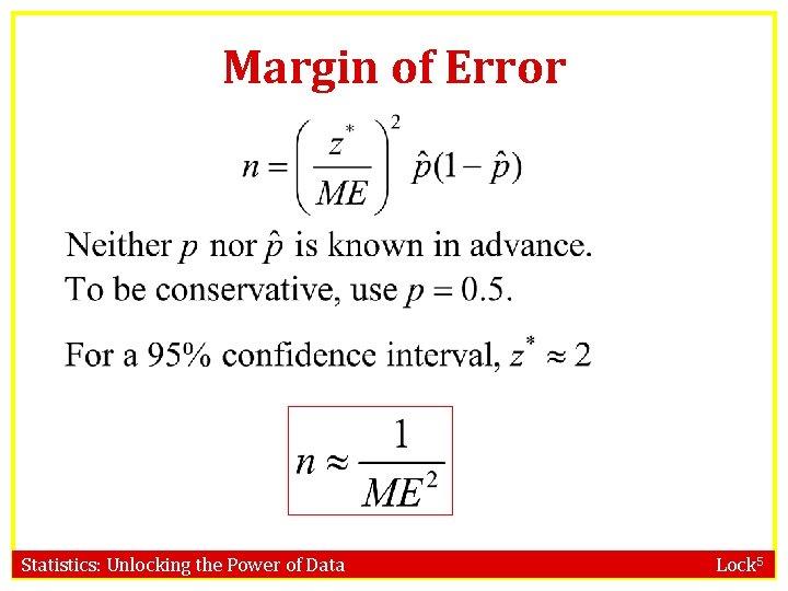 Margin of Error Statistics: Unlocking the Power of Data Lock 5