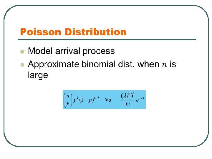 Poisson Distribution l