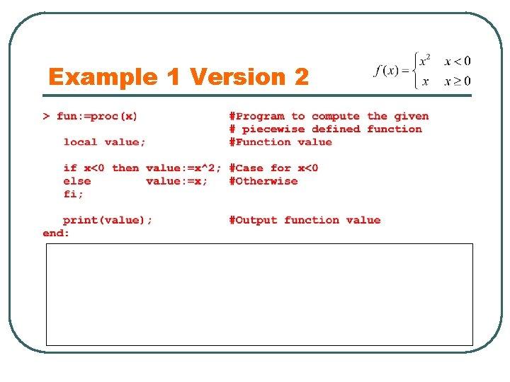 Example 1 Version 2