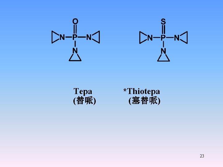 Tepa *Thiotepa (替哌) (塞替哌) 23