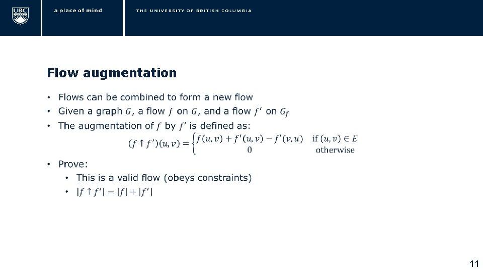 Flow augmentation • 11