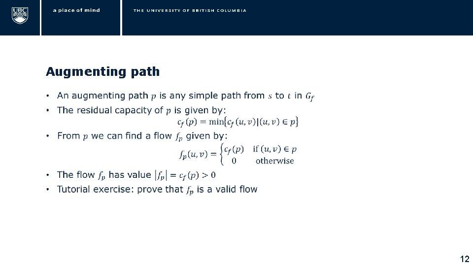 Augmenting path • 12