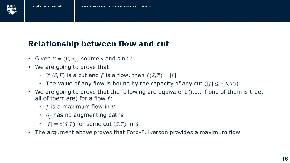 Relationship between flow and cut • 18