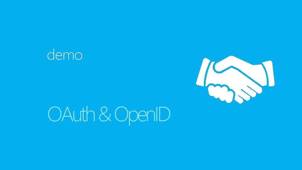 demo OAuth & Open. ID