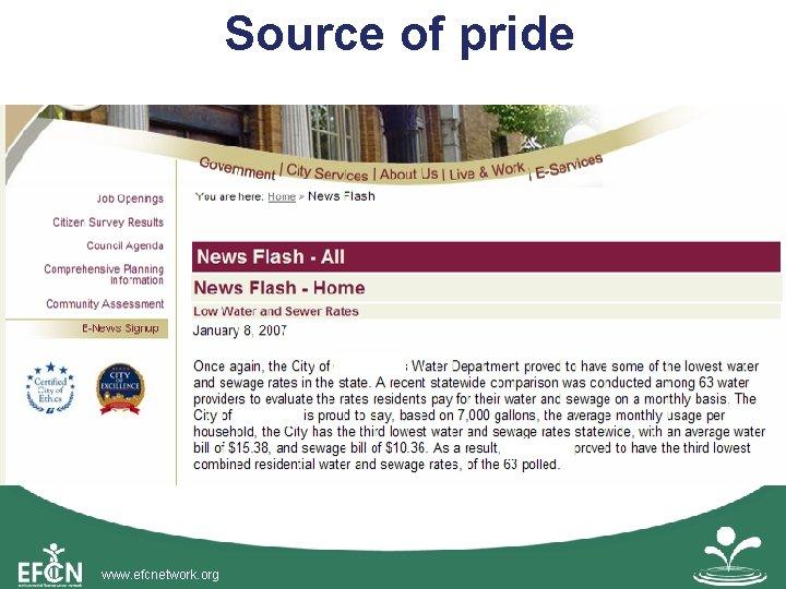 Source of pride www. efcnetwork. org