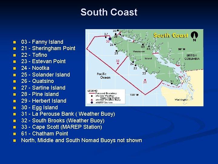 South Coast n n n n 03 - Fanny Island 21 - Sheringham Point