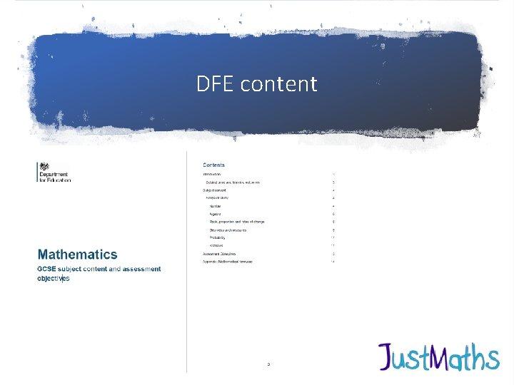 DFE content