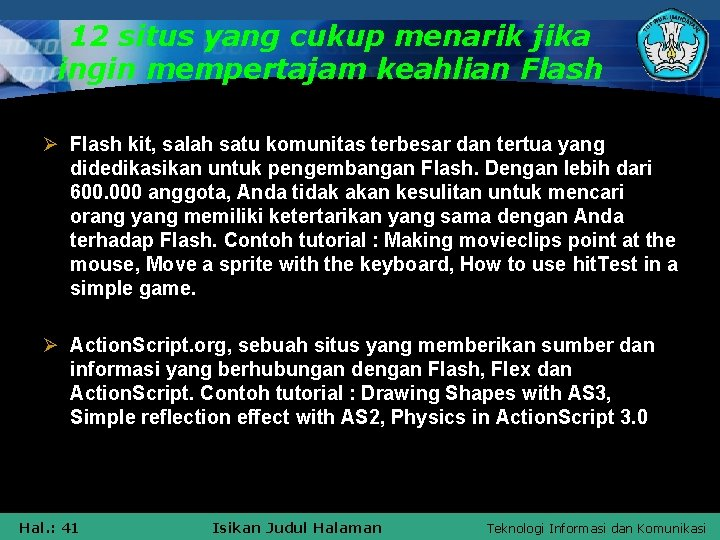 12 situs yang cukup menarik jika ingin mempertajam keahlian Flash Ø Flash kit, salah