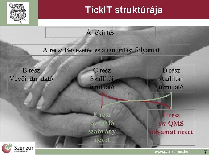Tick. IT struktúrája Áttekintés A rész: Bevezetés és a tanúsítási folyamat B rész Vevői