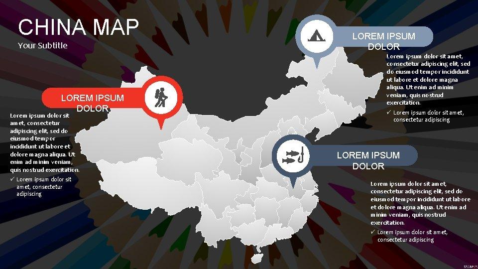 CHINA MAP Your Subtitle LOREM IPSUM DOLOR Lorem ipsum dolor sit amet, consectetur adipiscing
