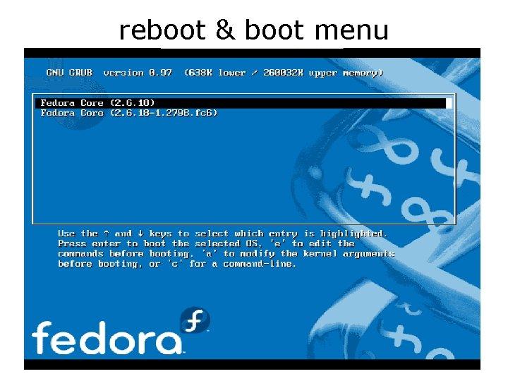 reboot & boot menu