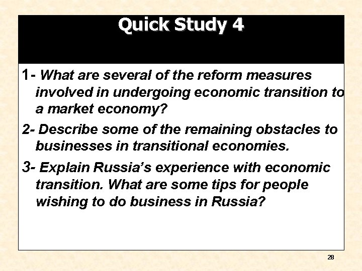 Quick Study 4 1 - What are several of the reform measures involved in