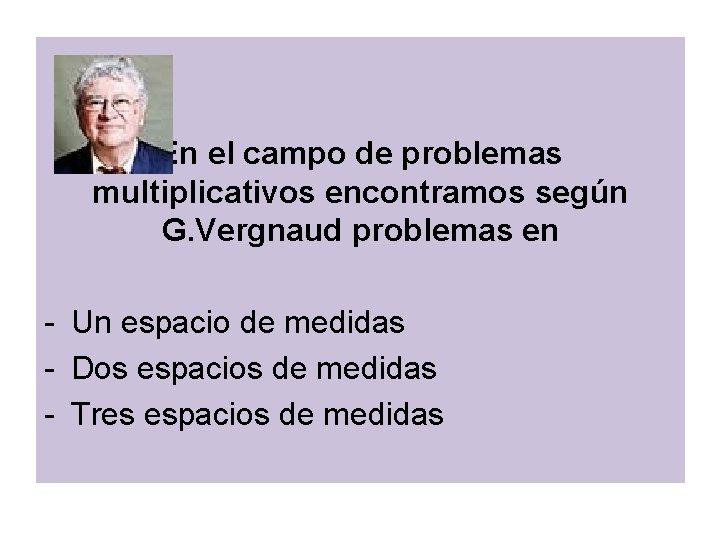 En el campo de problemas multiplicativos encontramos según G. Vergnaud problemas en - Un