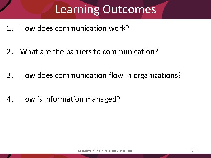 Learning Outcomes 1. How does communication work? 2. What are the barriers to communication?