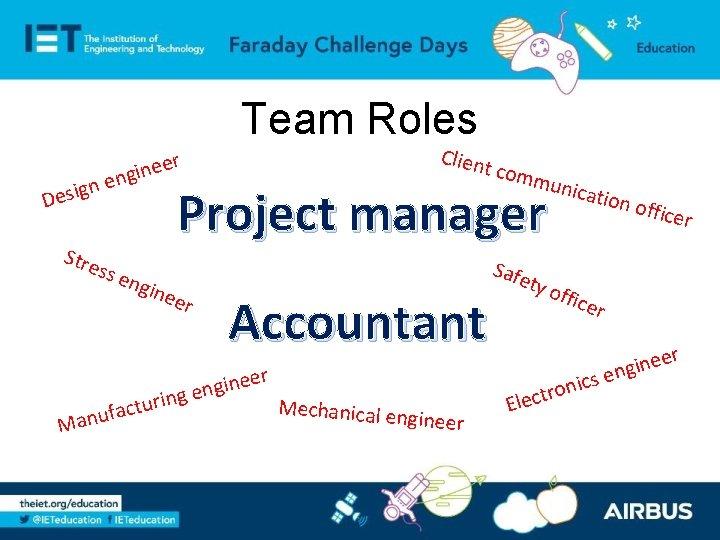 Team Roles Des Clien t eer n i g n ign e Stre Project