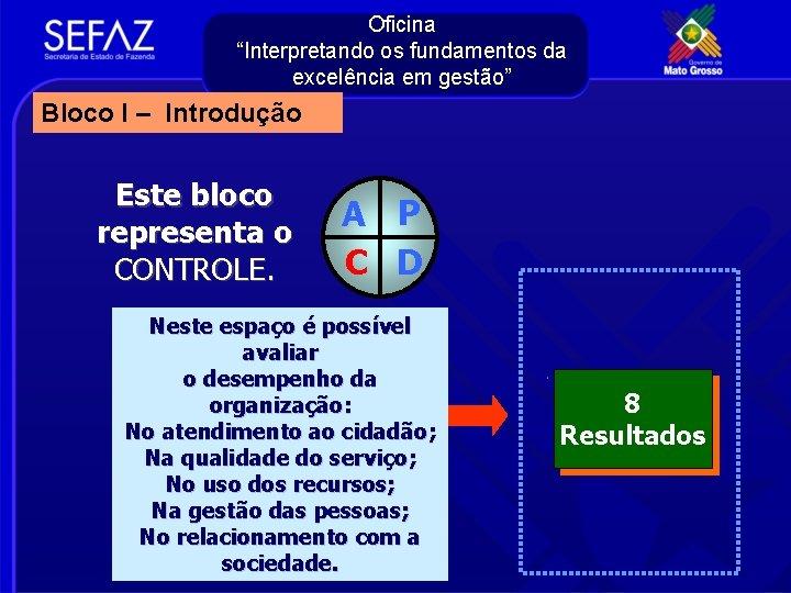 """Oficina """"Interpretando os fundamentos da excelência em gestão"""" Bloco I – Introdução Este bloco"""