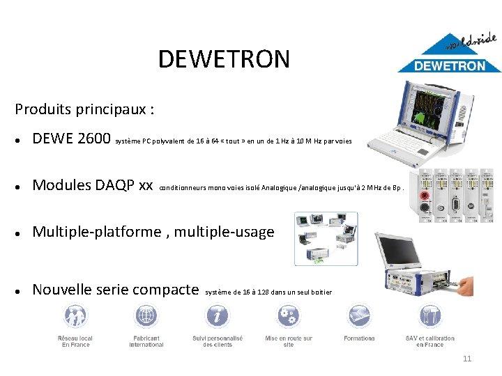 DEWETRON Produits principaux : DEWE 2600 système PC polyvalent de 16 à 64 «
