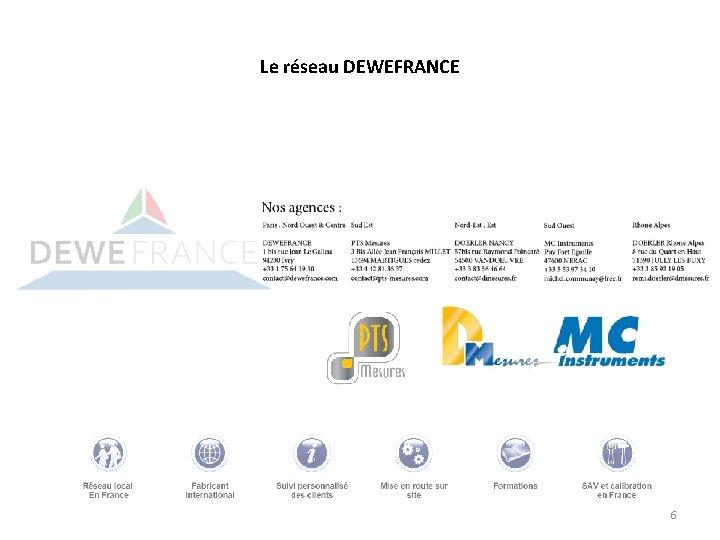 Le réseau DEWEFRANCE 6