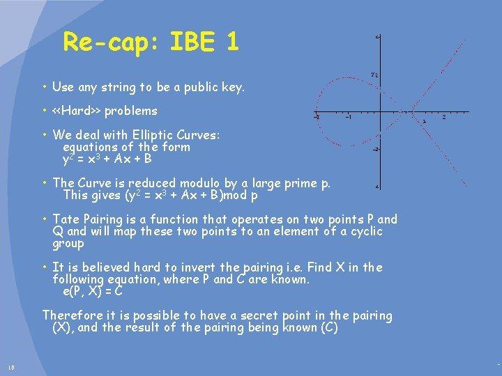 Re-cap: IBE 1 • Use any string to be a public key. • <<Hard>>