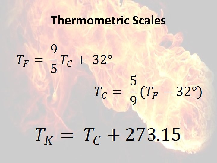 Thermometric Scales