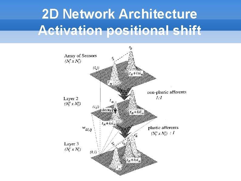 2 D Network Architecture Activation positional shift