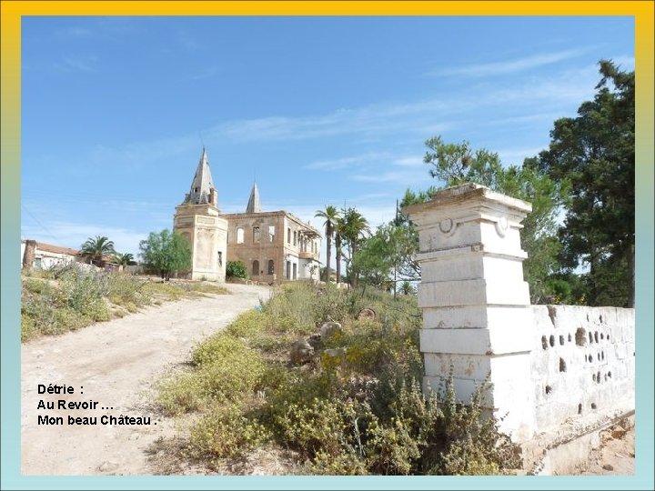 Détrie : Au Revoir … Mon beau Château.