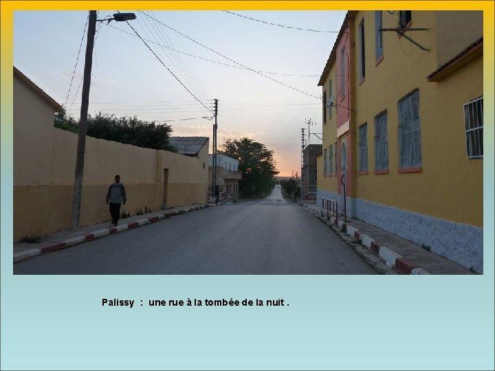 Palissy : une rue à la tombée de la nuit.