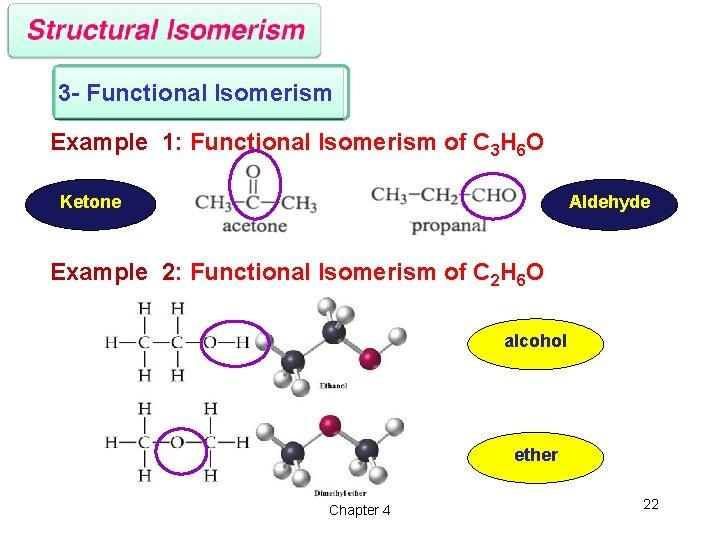 3 - Functional Isomerism Example 1: Functional Isomerism of C 3 H 6 O