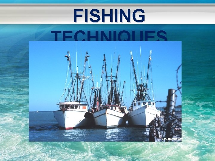 FISHING TECHNIQUES lenfestocean. org
