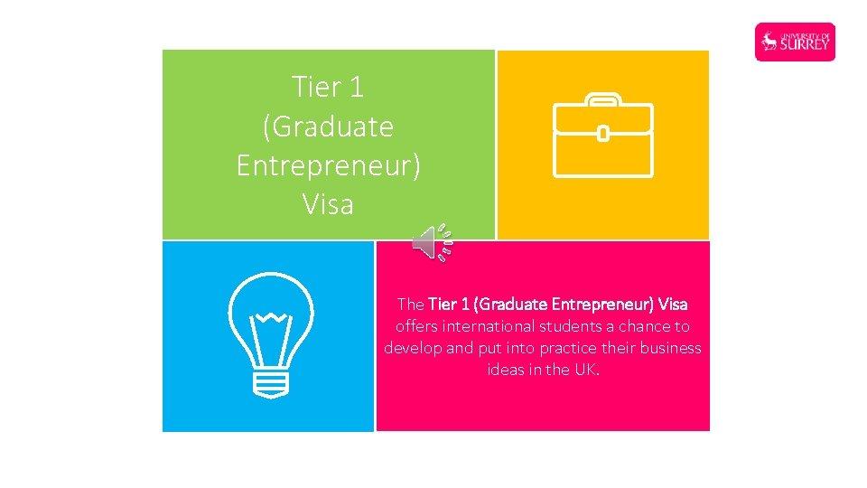 Tier 1 (Graduate Entrepreneur) Visa The Tier 1 (Graduate Entrepreneur) Visa offers international students