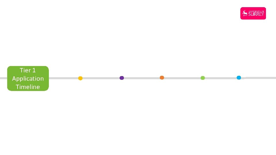 Tier 1 Application Timeline