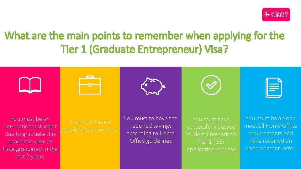 What are the main points to remember when applying for the Tier 1 (Graduate