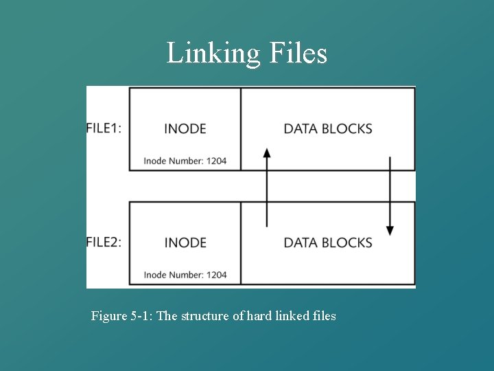 Linking Files Figure 5 -1: The structure of hard linked files