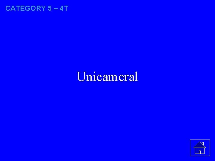 CATEGORY 5 – 4 T Unicameral