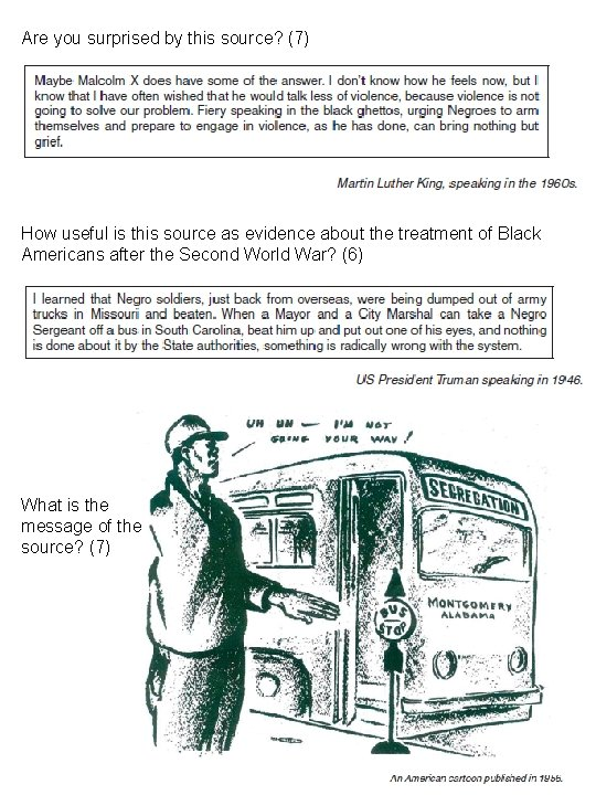 Are you surprised by this source? (7) How useful is this source as evidence