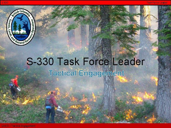 S-330 Task Force Leader S-330 Task Force Leader Tactical Engagement Unit 3 – Tactical