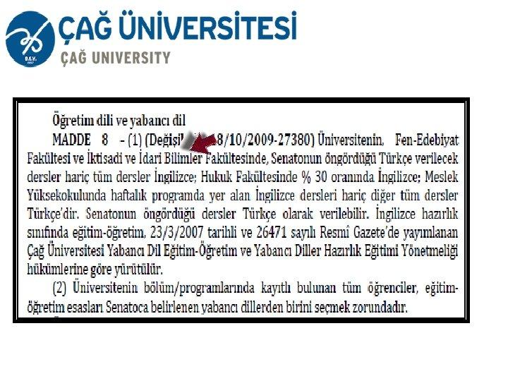 cag universitesi otomasyon giris
