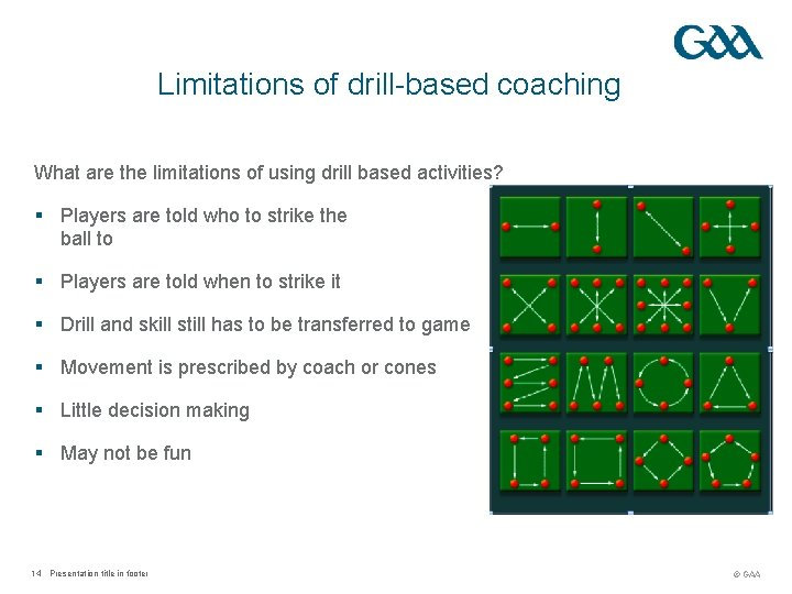 Limitations of drill-based coaching What are the limitations of using drill based activities? §