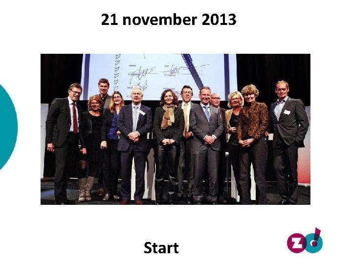 21 november 2013 Start