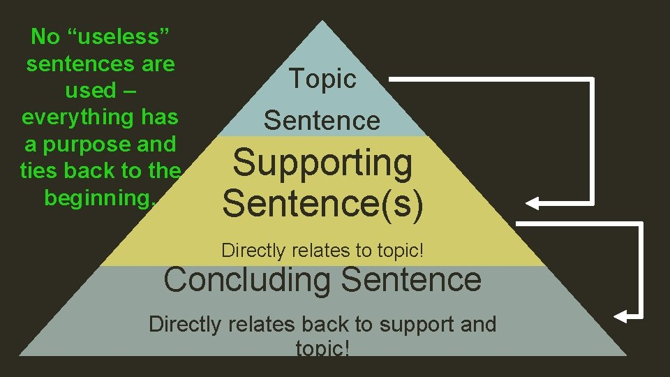 """No """"useless"""" sentences are used – everything has a purpose and ties back to"""