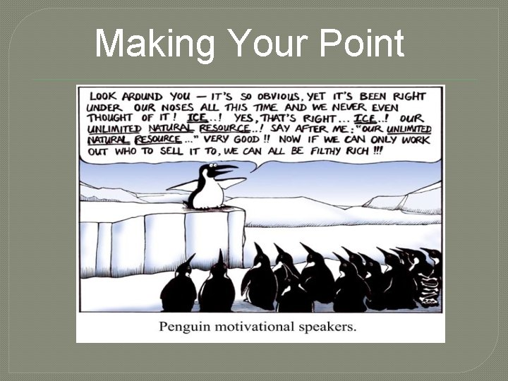 Making Your Point