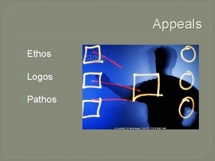 Appeals �Ethos �Logos �Pathos