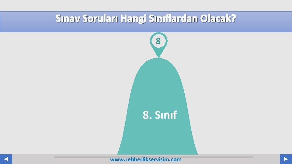 Sınav Soruları Hangi Sınıflardan Olacak? 8 8. Sınıf www. rehberlikservisim. com Your Log o