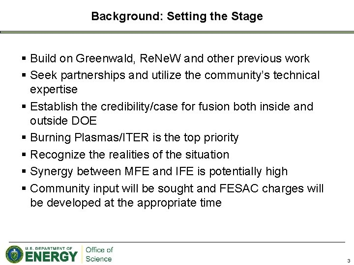 Background: Setting the Stage § Build on Greenwald, Re. Ne. W and other previous