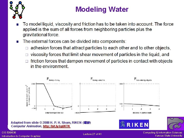 Modeling Water Adapted from slide © 2008 H. P. H. Shum, RIKEN (理研) Computer