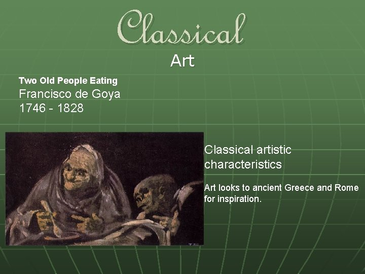 Classical Art Two Old People Eating Francisco de Goya 1746 - 1828 Classical artistic
