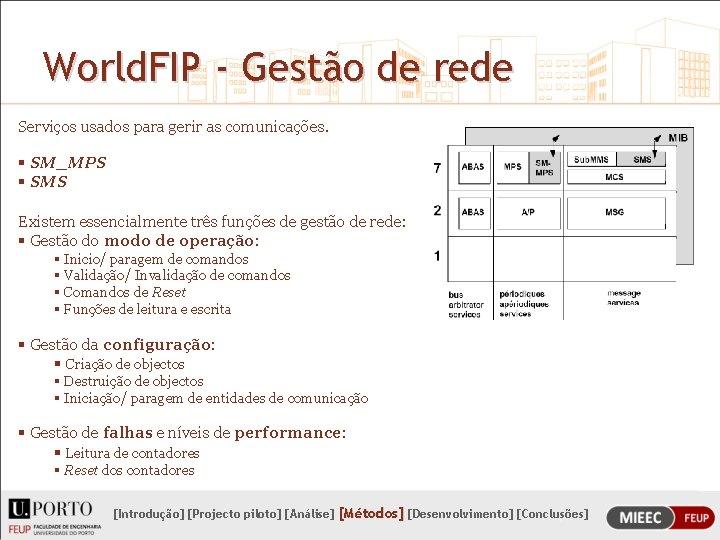 World. FIP - Gestão de rede Serviços usados para gerir as comunicações. § SM_MPS