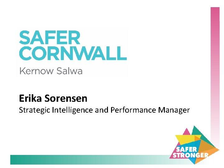 Erika Sorensen Strategic Intelligence and Performance Manager