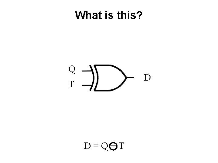 What is this? Q D T D=Q+T